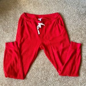 Red sweat/PJ pants - comfy!!
